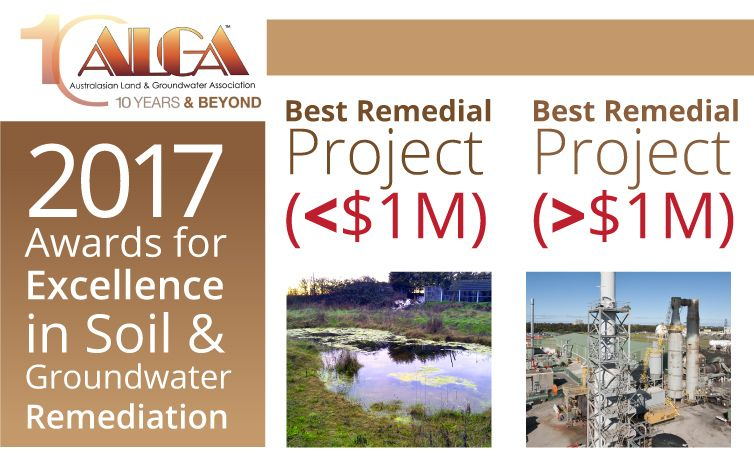 ALGA Annual Awards for Excellence in Soil & Groundwater Remediation
