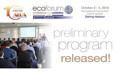 2018 EcoForum Conference Preliminary Program