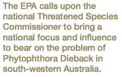 WA EPA Urges Federal Approach to Biodiversity Threat